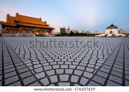 National Taiwan Democracy Square, in Taipei, Taiwan - stock photo
