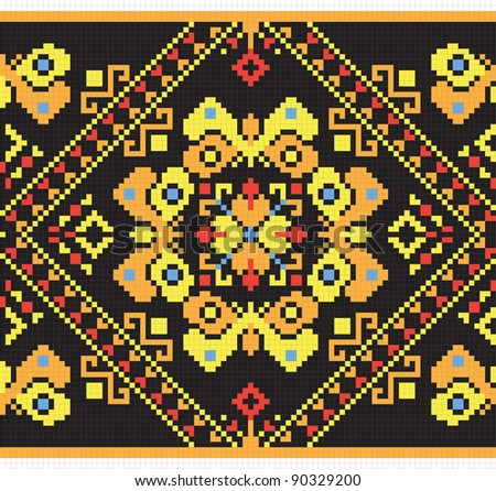 National Ukrainian seamless pattern, abstract background