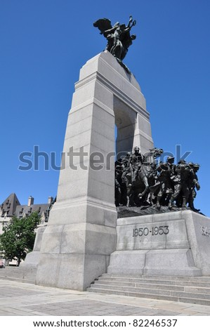 National War Memorial in Ottawa, Canada - stock photo
