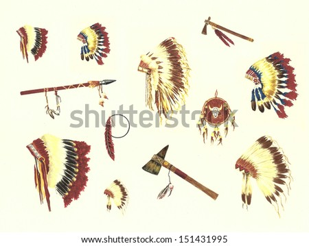 Native American Background - stock photo