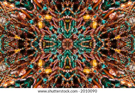 Native American Beaded Abstract Background - stock photo