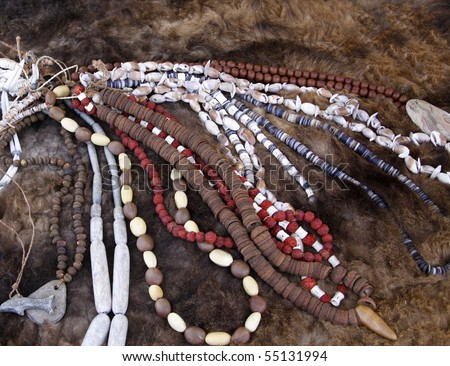Native American Beads - stock photo