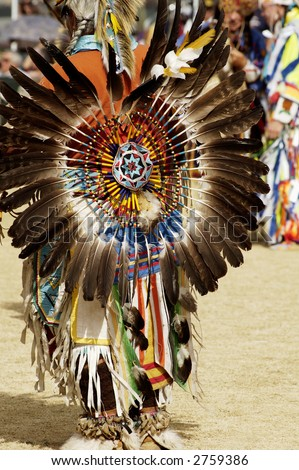 native american dancers at a Powwow in Arizona - stock photo