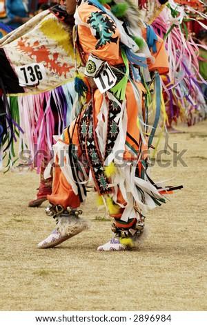 native american dancers at a Powwow in Arizona - stock photo