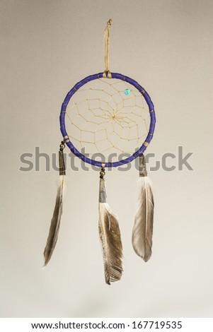 Native American Dreamcatcher Vertical Photo - stock photo
