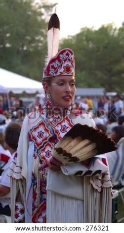 Native American Girl - stock photo
