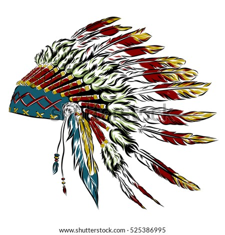 indian hat template - feather hat stock images royalty free images vectors