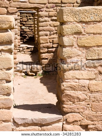 native american indian ruins - stock photo