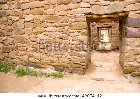 native american indian ruins - stock photo