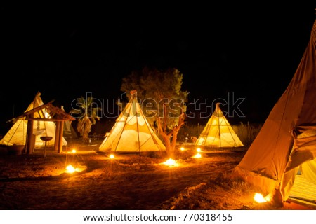 Native American Indian tent at night at the desert & Indian Tent Stock Images Royalty-Free Images u0026 Vectors   Shutterstock