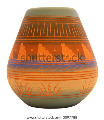 Native American Southwest Pottery Vase - stock photo