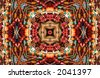 Native American Style Abstract Background With Beads - stock photo