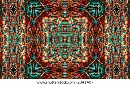 Native American Style Abstract Backgrounds With Beads - stock photo