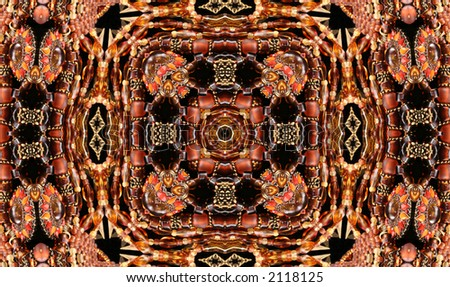 Native American Style Abstract Bead Background - stock photo