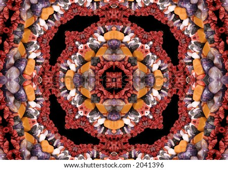 Native American Style Beaded Abstract Background - stock photo