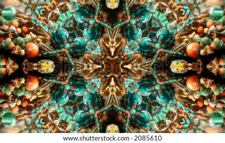 Native American Styled Abstract Cross Background - stock photo