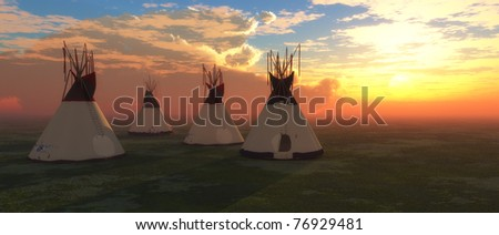 Native American Teepees - stock photo