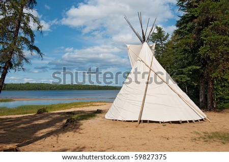 native canadian teepee, lanaudiere region of quebec