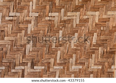 Native Thai style bamboo house wall