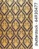 Native Thai style of pattern on door temple - stock photo