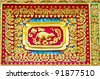 Native Thai style of rat pattern on Buddhist temple - stock photo