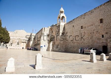 Nativity church, Bethlehem,  West bank, Palestine, Israel - stock photo