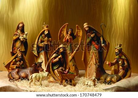Nativity scene. - stock photo