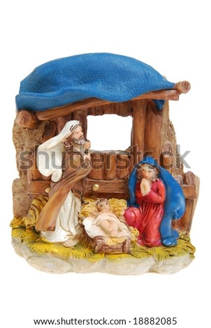Nativity scene from Bethlehem. - stock photo