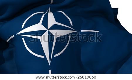 NATO flag - stock photo