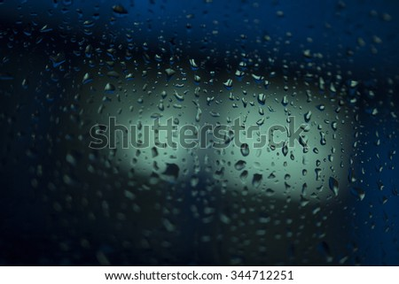 Natural abstract background with selective focus on rain drop