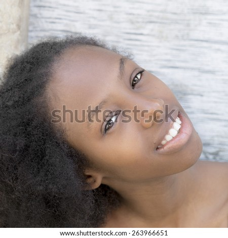 Natural Afro beauty  - stock photo