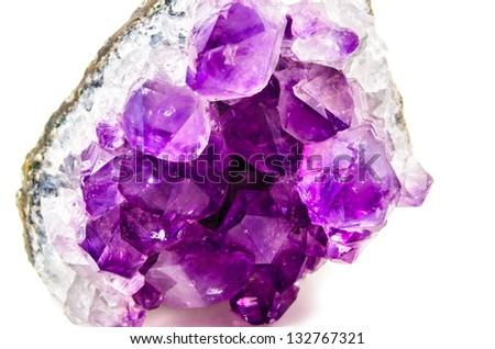 Natural amethyst. Photo Close-up - stock photo