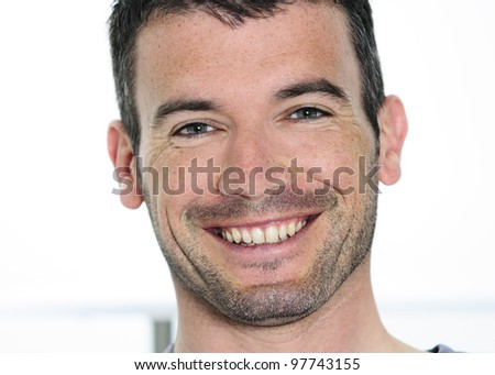 natural and relaxed looking young man - stock photo