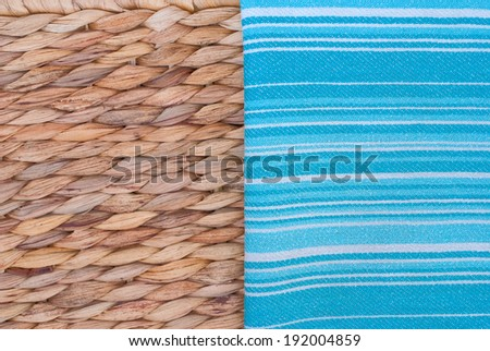 natural background and kitchen towel