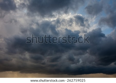 Natural background: dramatic stormy sky - stock photo