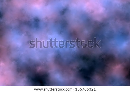 Natural background - thunderstorm clouds E.                     - stock photo