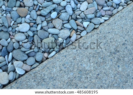 Natural background with decorative river stones.