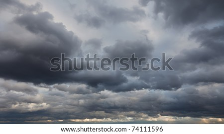 Natural backgrounds: stormy sky - stock photo