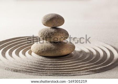 natural balance with zen meditation