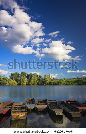 natural beauty of the River - stock photo