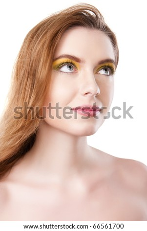 Natural beauty portrait of young female