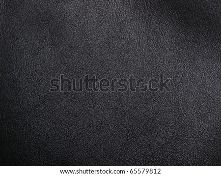 natural black leather abstract background - stock photo