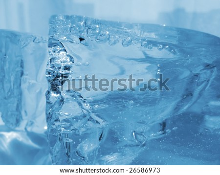 Natural blue ice - stock photo