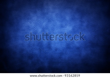 Natural  blue leather - stock photo