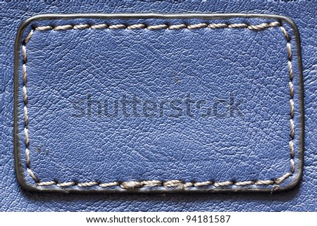 Natural blue leather background closeup. See my portfolio for more - stock photo