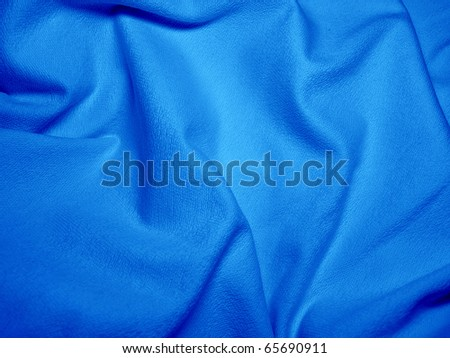 Natural blue plush terry cloth - stock photo