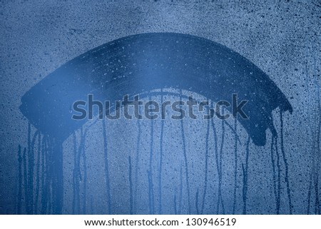 Natural blue water drop background - stock photo