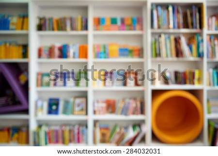 Natural bokeh out of focus Bookstore - stock photo