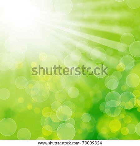 Natural bokeh with sunlight - stock photo
