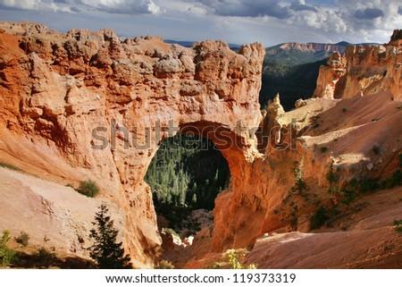 Natural Bridge in Bryce Canyon National Park, Utah. - stock photo